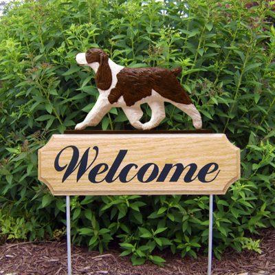 English-Springer-Spaniel-Dog-Breed-Oak-Wood-Welcome-Outdoor-Yard-Sign-Liver-400706794770