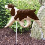 English-Springer-Spaniel-Outdoor-Garden-Dog-Sign-Hand-Painted-Figure-Liver-181369662159