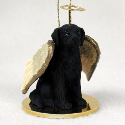 Flat-Coated-Retriever-Dog-Figurine-Angel-Statue-Ornament-400322308651