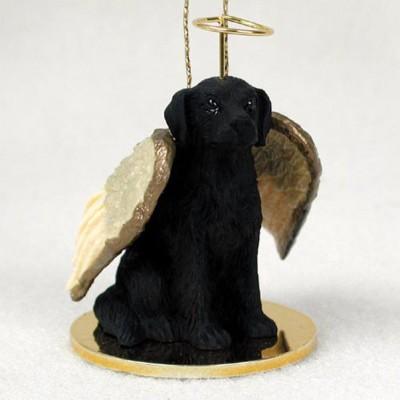 Flat-Coated-Retriever-Dog-Figurine-Angel-Statue-Ornament-400322308651
