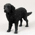 Flat-Coated-Retriever-Hand-Painted-Collectible-Dog-Figurine-Statue-181241836870