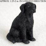 Flat-Coated-Retriever-Mini-Resin-Hand-Painted-Dog-Figurine-181350378967