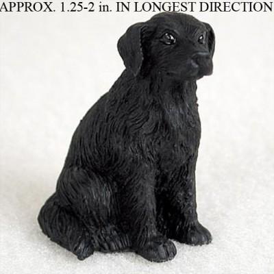 Flat-Coated-Retriever-Mini-Resin-Hand-Painted-Dog-Figurine-181350378967