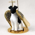 Fox-Terrier-Dog-Figurine-Angel-Statue-Ornament-BlkWht-180741556276