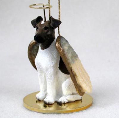 Fox-Terrier-Dog-Figurine-Angel-Statue-Ornament-BrwnWht-400250978850
