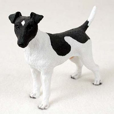Fox-Terrier-Hand-Painted-Collectible-Dog-Figurine-Statue-Black-White-400269478362
