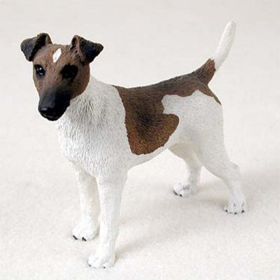 Fox-Terrier-Hand-Painted-Dog-Figurine-Statue-Brown-400201747235