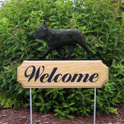 French-Bulldog-Dog-Breed-Oak-Wood-Welcome-Outdoor-Yard-Sign-Black-Brindle-181404181446