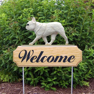 French-Bulldog-Dog-Breed-Oak-Wood-Welcome-Outdoor-Yard-Sign-Cream-181404181862