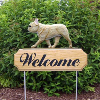 French-Bulldog-Dog-Breed-Oak-Wood-Welcome-Outdoor-Yard-Sign-Fawn-400706796664