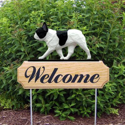French-Bulldog-Dog-Breed-Oak-Wood-Welcome-Outdoor-Yard-Sign-Pied-181404183057