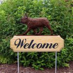 French-Bulldog-Dog-Breed-Oak-Wood-Welcome-Outdoor-Yard-Sign-Red-Brindle-181404183614