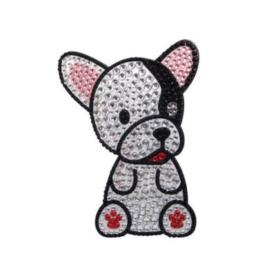 French-Bulldog-Dog-Rhinestone-Glitter-Jewel-Phone-Ipod-Iphone-Sticker-Decal-400579326706