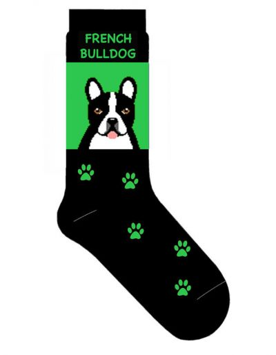 French-Bulldog-Dog-Socks-Lightweight-Cotton-Crew-Stretch-Egyptian-Made-181354098483