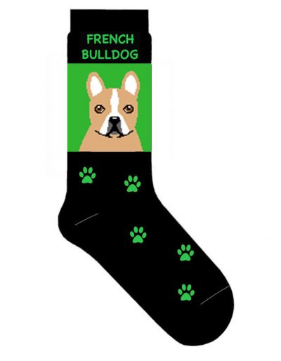 French-Bulldog-Dog-Socks-Lightweight-Cotton-Crew-Stretch-Egyptian-Made-Cream-400645410104