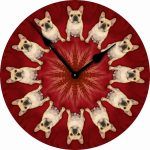 French-Bulldog-Dog-Wall-Clock-10-Round-Wood-Made-in-USA-400707273540