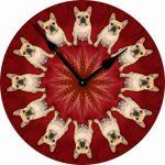 French-Bulldog-Dog-Wall-Clock-10-Round-Wood-Made-in-USA-400707273540