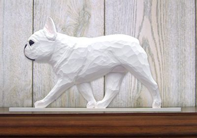 French-Bulldog-Figurine-Sign-Plaque-Display-Wall-Decoration-White-181430786130