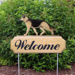 German-Shepherd-Dog-Breed-Oak-Wood-Welcome-Outdoor-Yard-Sign-Tan-w-Black-Saddle-181404186037