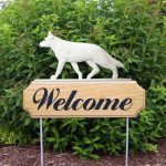 German-Shepherd-Dog-Breed-Oak-Wood-Welcome-Outdoor-Yard-Sign-White-181404186416