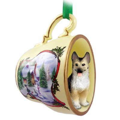 German-Shepherd-Dog-Christmas-Holiday-Teacup-Ornament-Figurine-TanBlk-181239450234