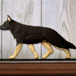 German-Shepherd-Dog-Figurine-Sign-Plaque-Display-Wall-Decoration-Black-w-Tan-Po-181430787464