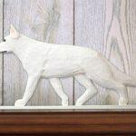 German-Shepherd-Dog-Figurine-Sign-Plaque-Display-Wall-Decoration-White-400721999670
