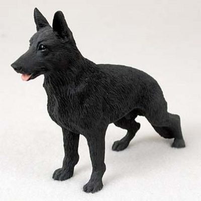 German-Shepherd-Hand-Painted-Collectible-Dog-Figurine-Statue-Black-400325325298