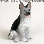 German-Shepherd-Mini-Resin-Dog-Figurine-BlackSilver-400205070316
