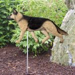 German-Shepherd-Outdoor-Garden-Dog-Sign-Hand-Painted-Figure-Tan-w-Black-Saddle-181369666184