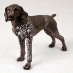 German-Shorthair-Pointer-Hand-Painted-Collectible-Dog-Figurine-181134291323