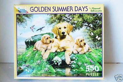 Golden-Retriever-Dog-550-Piece-Puzzle-Jigsaw-Game-New-170253334385