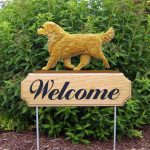 Golden-Retriever-Dog-Breed-Oak-Wood-Welcome-Outdoor-Yard-Sign-Light-181404187244
