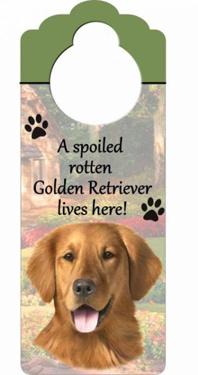 Golden-Retriever-Dog-Door-Knob-Handle-Hanger-Sign-Spoiled-Rotten-1025-x-4-181160021379