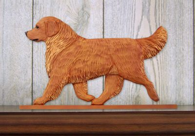 Golden-Retriever-Dog-Figurine-Sign-Plaque-Display-Wall-Decoration-Dark-400721999946