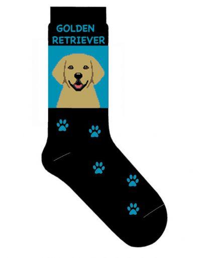 Golden-Retriever-Dog-Socks-Lightweight-Cotton-Crew-Stretch-Egyptian-Made-Blue-181299223171