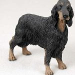 Gordon-Setter-Hand-Painted-Dog-Figurine-Statue-180638148691