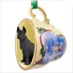 Great-Dane-Dog-Christmas-Holiday-Teacup-Sleigh-Ornament-Figurine-Black-400326241103