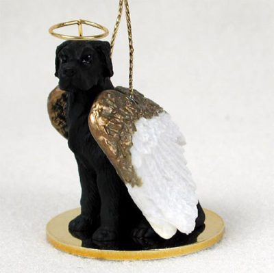Great-Dane-Dog-Figurine-Angel-Statue-Hand-Painted-Black-Uncropped-400671444290
