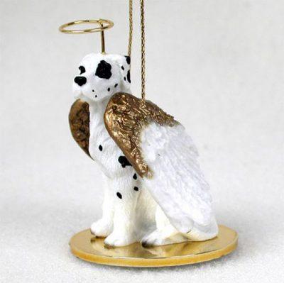 Great-Dane-Dog-Figurine-Angel-Statue-Hand-Painted-Harlequin-Uncrop-180637634468