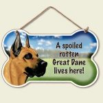 Great-Dane-Dog-Sign-Wall-Plaque-Bone-Shape-Spoiled-Rotten-95-X-56-400301883461