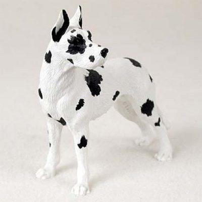 Great-Dane-Hand-Painted-Collectible-Dog-Figurine-Harlequin-400709823775