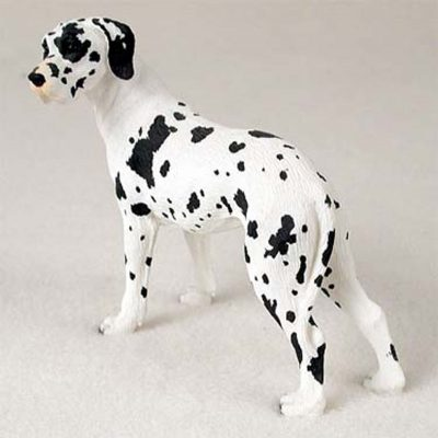 Great-Dane-Hand-Painted-Collectible-Dog-Figurine-Harlequin-Uncropped-181134292169
