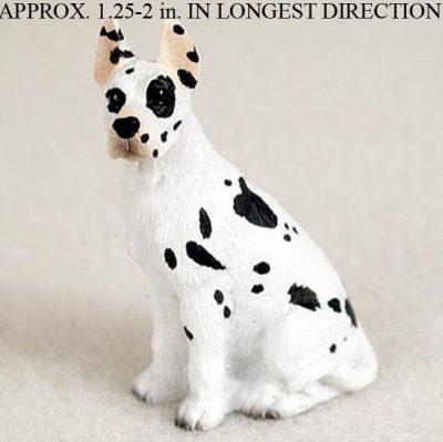 Great-Dane-Mini-Resin-Dog-Figurine-Statue-Hand-Painted-Harlequin-400205070364