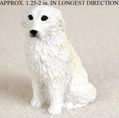 Great-Pyrenees-Mini-Resin-Hand-Painted-Dog-Figurine-Statue-180793074092