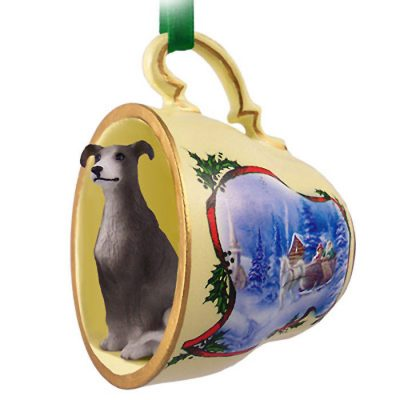 Greyhound-Dog-Christmas-Holiday-Teacup-Ornament-Figurine-Gray-180738065031