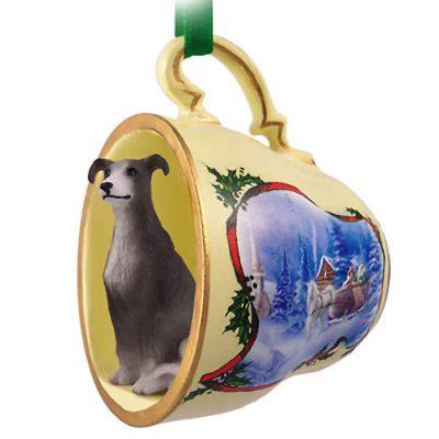 Greyhound-Dog-Christmas-Holiday-Teacup-Ornament-Figurine-Gray-180738065031