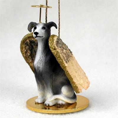 Greyhound-Dog-Figurine-Angel-Statue-Hand-Painted-Gray-180637634658