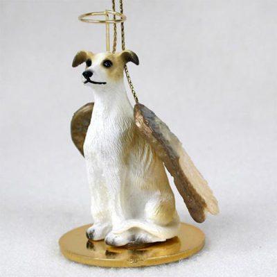 Greyhound-Dog-Figurine-Angel-Statue-Tan-White-181136185680