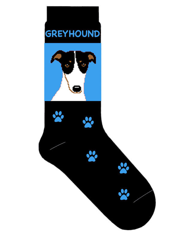 Greyhound Socks Lightweight Cotton Crew Stretch Egyptian Blue